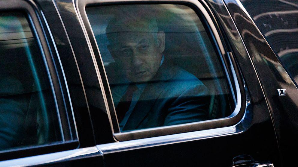 Israels premiärminister Benjamin Netanyahu lämnar Trump Tower efter mötet med republikanernas presidentkandidat Donald Trump.