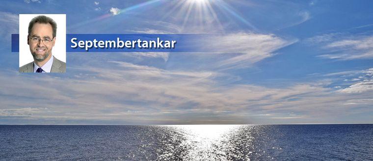 Strålande vackert septemberväder i Halmstad vid Hallandskusten den 19 september.