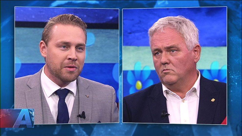 Mattias Karlsson (SD) och Anders W Jonsson (C)