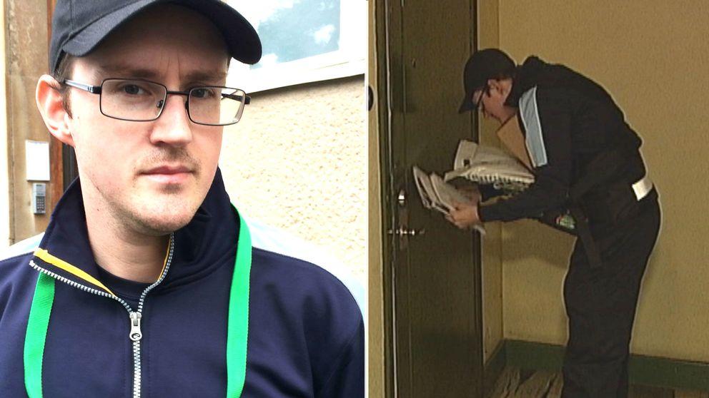 Det är mycket som behöver bli bättre för brevbärarna i Örebro, anser brevbäraren och skyddsombudet Niklas Lohaller.