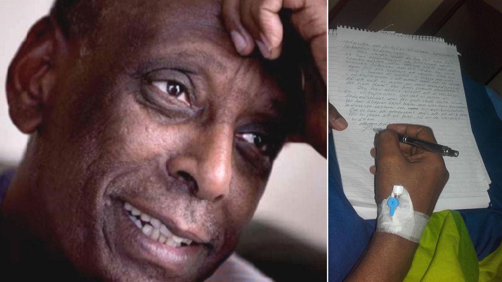 I brevet berättar Fikru Maru bland annat att han plågats av smärtor av det dränage som han haft kopplat in i sin kollapsade lunga.