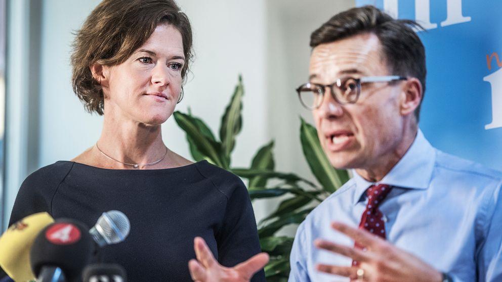 Anna Kinberg Batra och Ulf Kristersson