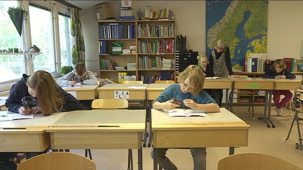 Femteklassare i Rydöbruk