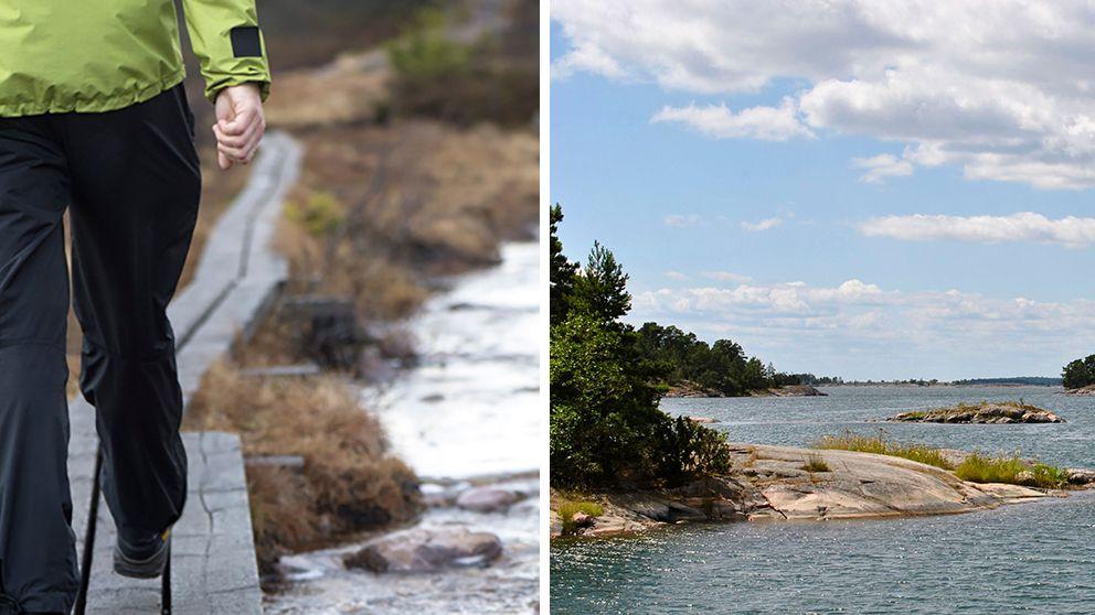 Outdoor-turism populärt i Sörmland (till höger: Stendörren vid Östersjökusten)