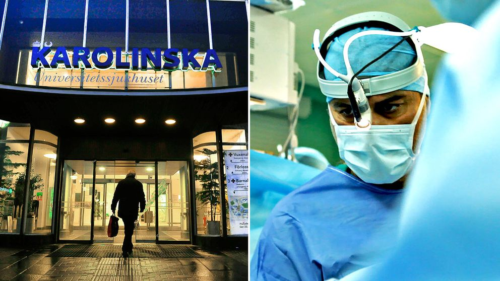 Till höger i bild den kritiserade KI-kirurgen Paolo Macchiarini.