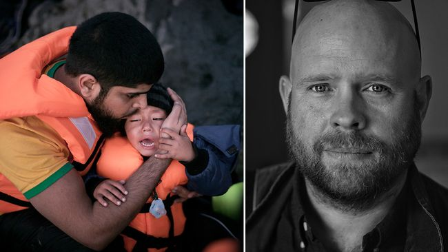 Anders Hansson har skildrat flyktingarna från Syrien och deras flykt genom Europa till Malmö.