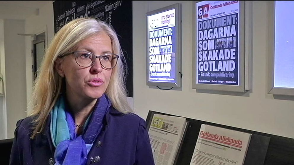 Ulrica Fransson Ingelmark, printchef Gotlands media.