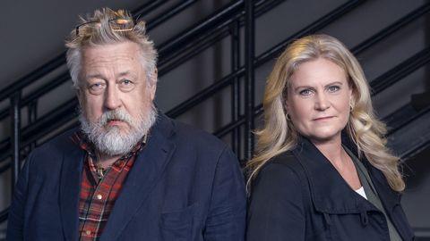 Leif GW Persson och Camilla Kvartoft.