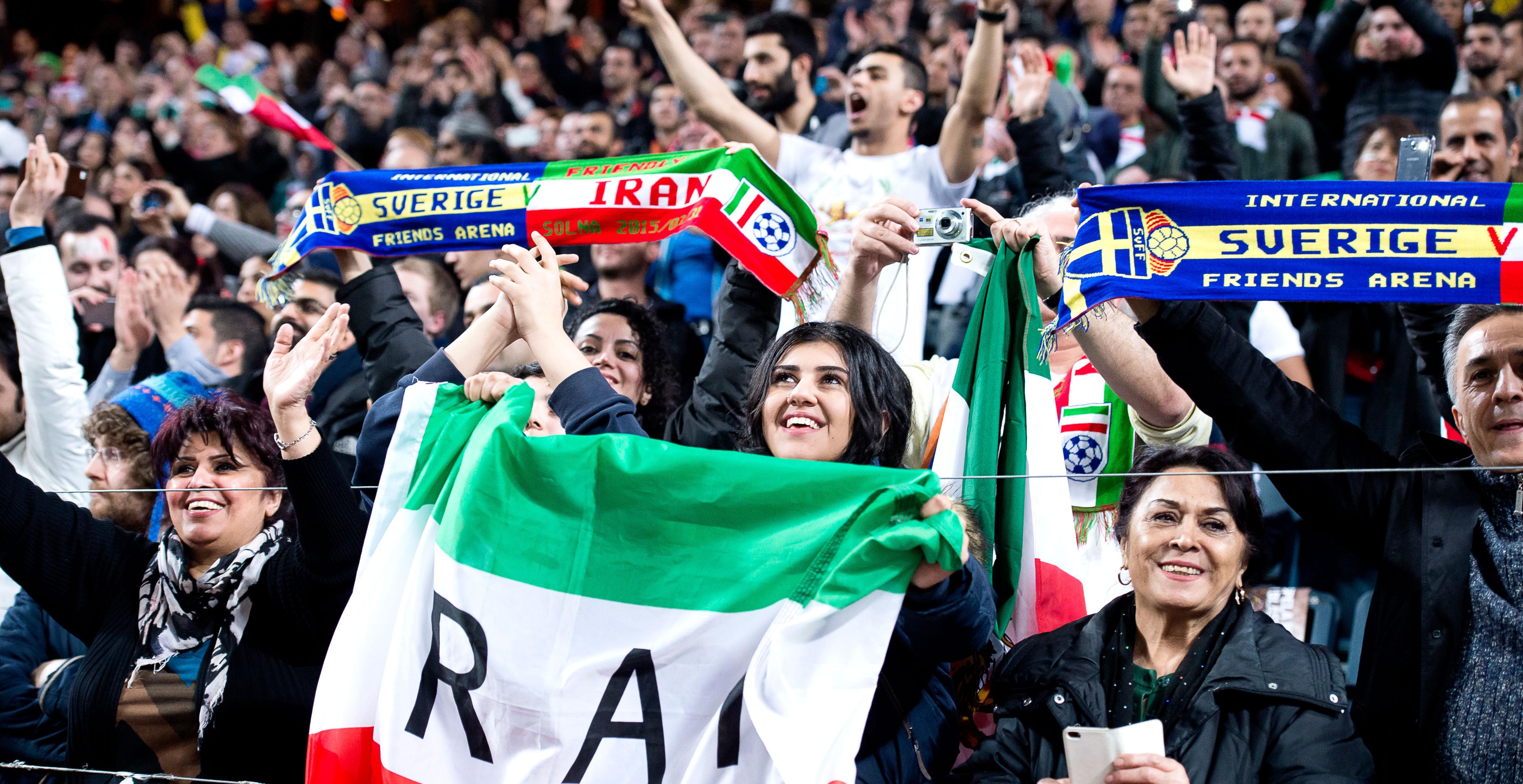 Match mot iran pa fredag troligen