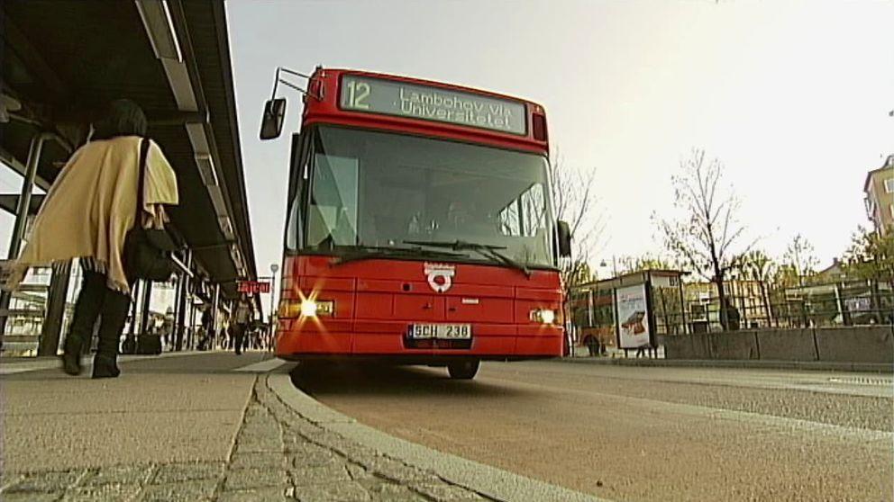 Busshållplats i Linköping