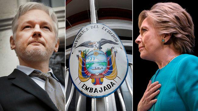 Wikileaks har publicerat e-post från Hillary Clintons kampanj, något som lett till att Ecuadors valt att stänga ned internetuppkopplingen för Julian Assange som sedan flera år tillbaka befinner sig på landets ambassad i London.