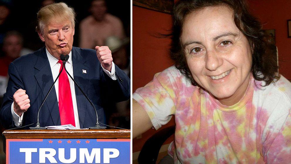 Republikanernas presidentkandidat Donald Trump och Daniela Perez, som lever som papperslös i USA.