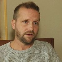 Markus Andersson, psykolog på barn- och ungdsomspsyk på Region Halland/ clownansikte