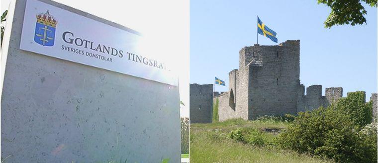 Gotlands tingsrätt samt ringmuren runt Visby