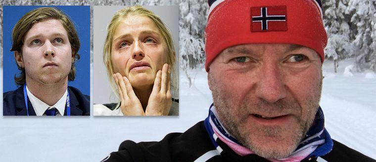 Nicklas Bäckström, Therese Johaug och Espen Utaker.