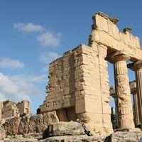 Ruinerna av det grekiska Zeustemplet i Cyrene