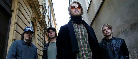 Fireside anno 2003: Pelle Gunnerfeldt, Per Nordmark, Kristofer Åström och Frans Johansson.