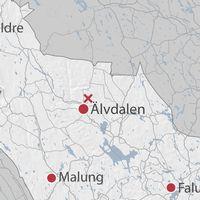 Karta över Älvdalen