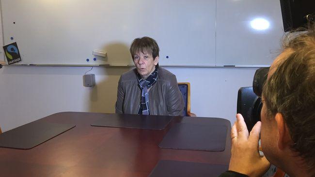 Siv Gidlöf (S) på presskonfererns