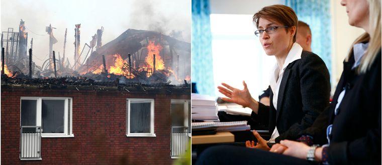 Storbranden på Barnhemsgatan i Linköping samt åklagaren Kajsa Malmström