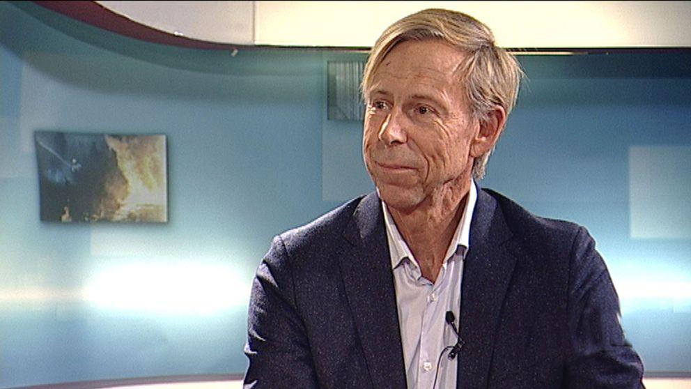 Anders Kompass i SVT:s studio