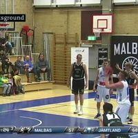 Jämtland Basket i sin match mot Malbas.