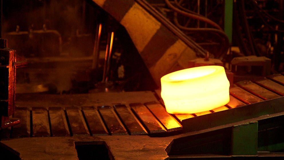 Interiör från stålindustri
