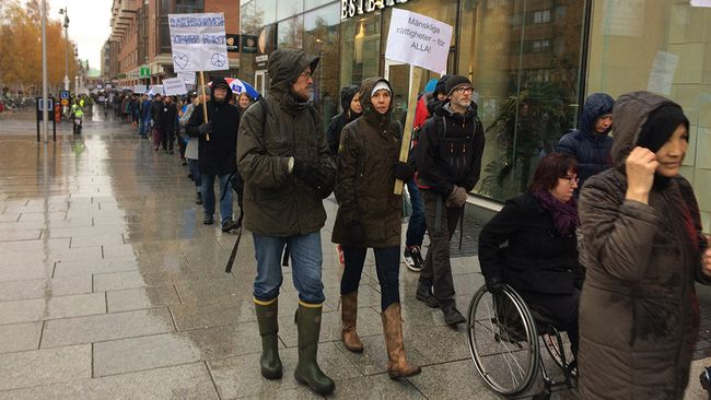 protestmarsch umeå