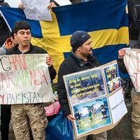 manifestation i Borlänge mot återtagandeavtal med Afghanista