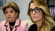 Jessica Drake och hennes advokat Gloria Allred.