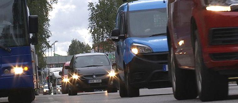 tung trafik i umeå dålig luft trafikökning