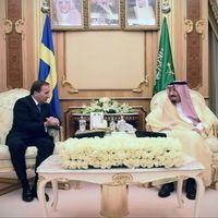 Stefan Löfven tillsammans med Saudiarabiens kung Salman.