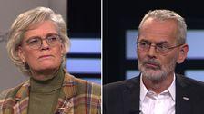 Carola Lemne, vd för Svenskt Näringsliv, och Anders Ferbe, ordförande för fackförbundet Metall.