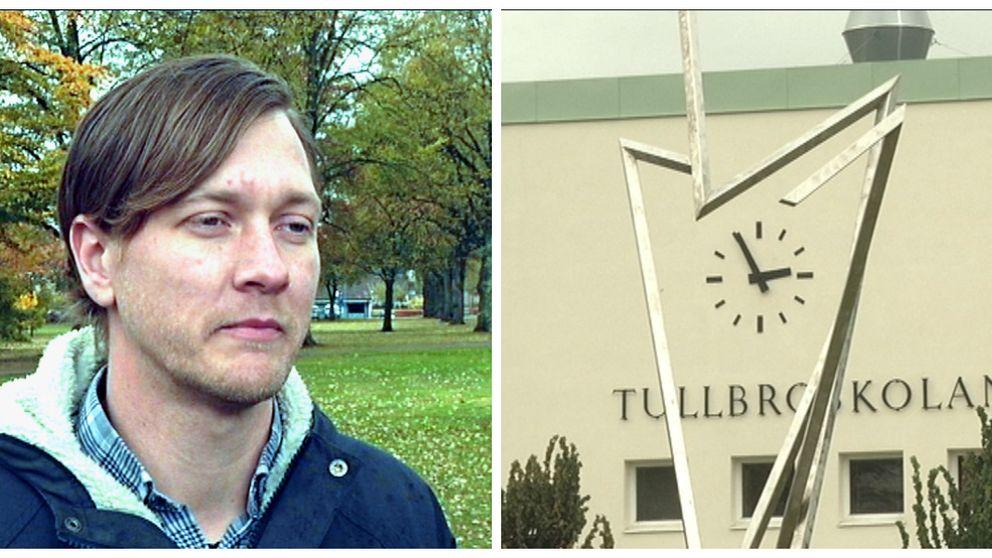 Patrik Lindström, förälder till en av de berörda eleverna på Hjortbergsskolan.