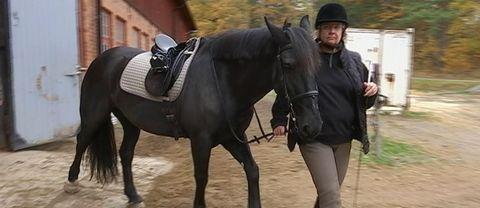 Lena Månsson fick ridterapi och är nu uppe på hästryggen igen.