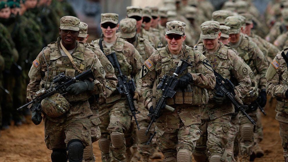 Amerikanska soldater under en övning i Litauen.