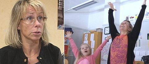 Anette Asplund (KD) / Barn och lärare som utför yoga