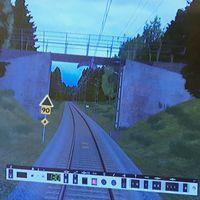 stillbild från tågsimulator