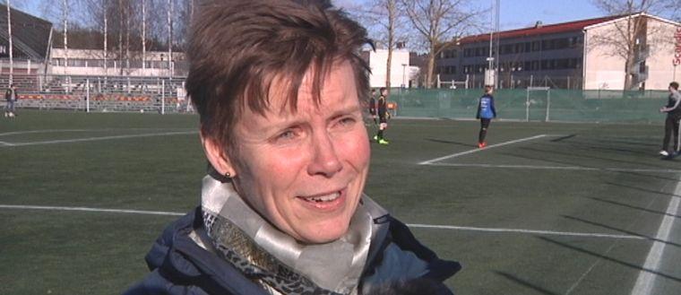 Carina Mattsson, ordförande för Upplands fotbollförbund, är imponerad över Sirius prestation som har lett till allsvenskt kontrakt.