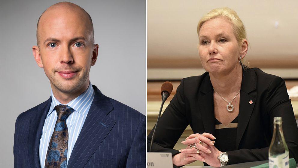 Erik Bromander och Anna Johansson
