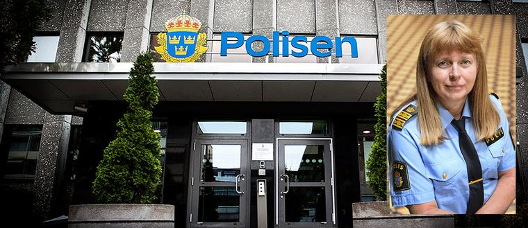 Polishuset Västerås. Polisområdeschef Lena Tysk.