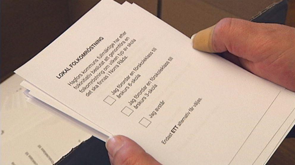 Det finns tre alternativ för alla röstberättigade i Hagfors kommun.