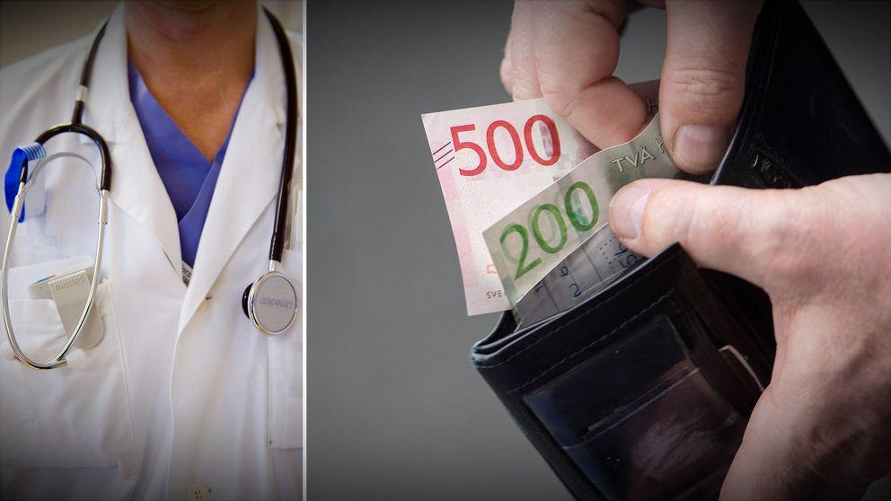 Läkare, kontanter.