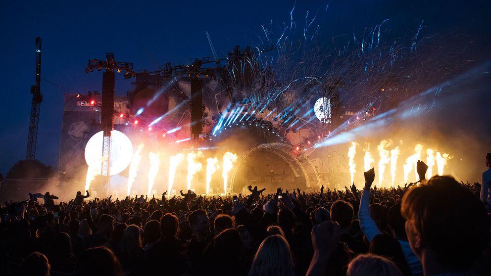Bild från en festival.