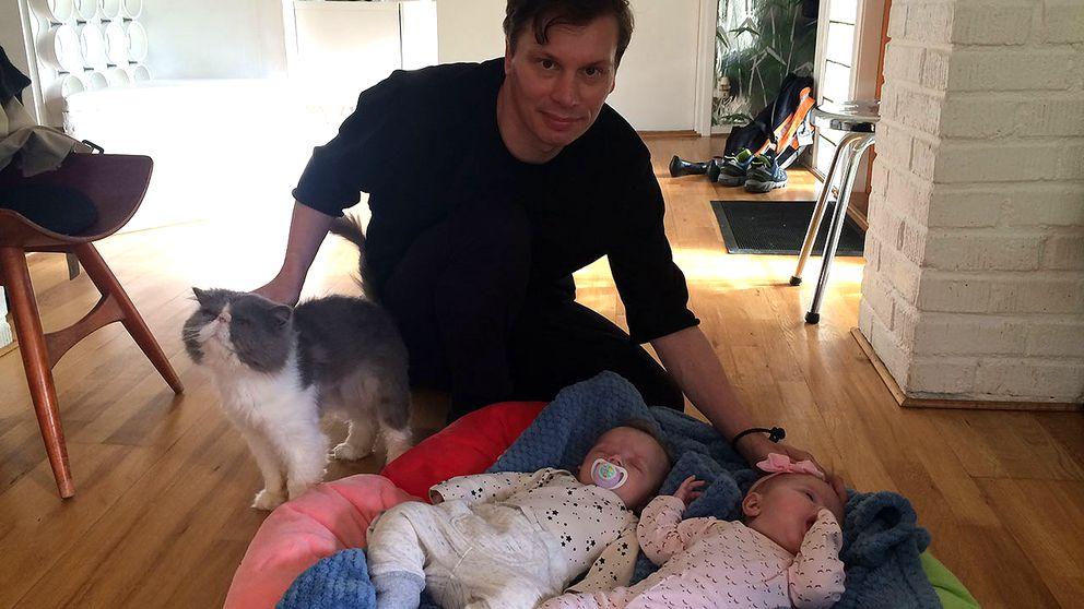 Mathias Liffner och tvillingarna Jason och Bojanca.