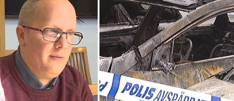 Kenneth Nilsson och brända bilar