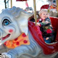 Barn, nöjesfält, tivoli