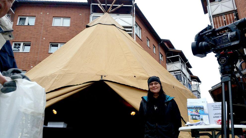 Pia Emretsson, Jokkmokksdagarna i huddinge, lappkåta i stad