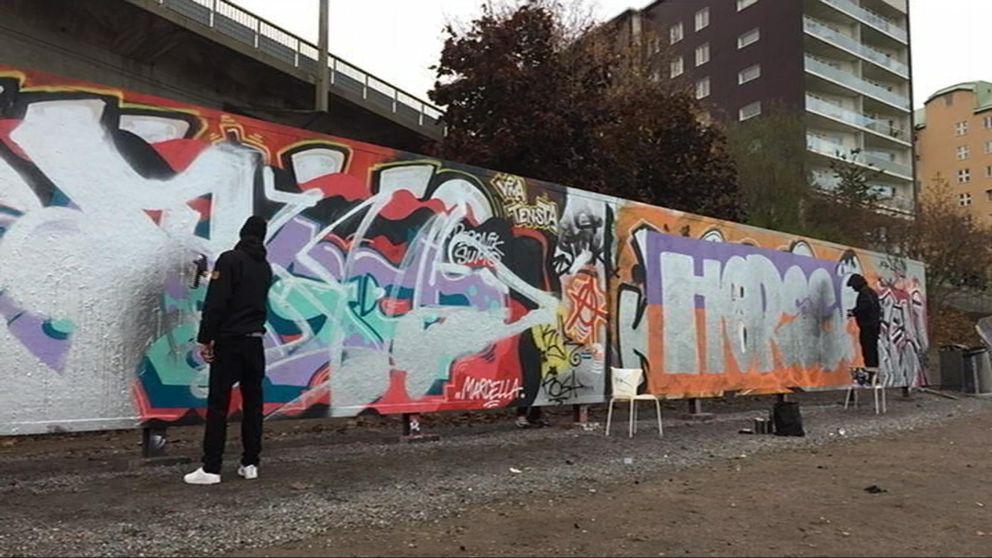Graffitvägg vid Hornstull