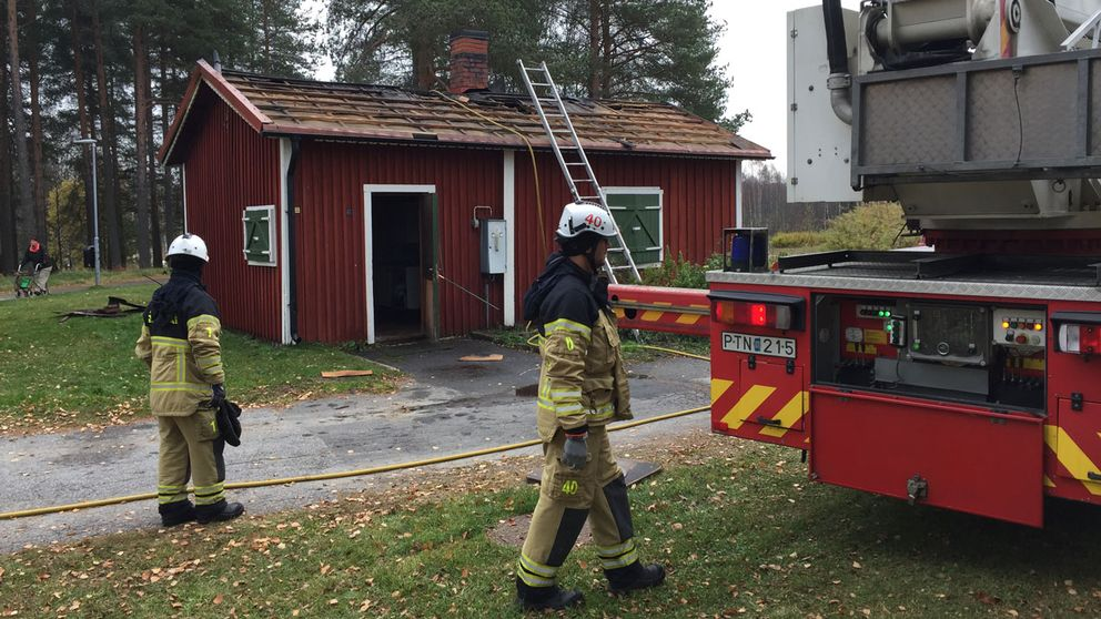 Bagarstuga brann på Porsön